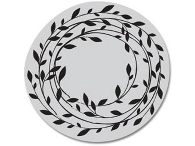 Hero Arts Cling Stamps-Wreath Of Leaves