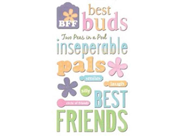 Sticko Glitter Classic Stickers-Friendship