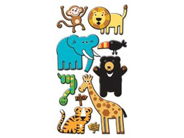 Puffy Dimensional Stickers-Zoo