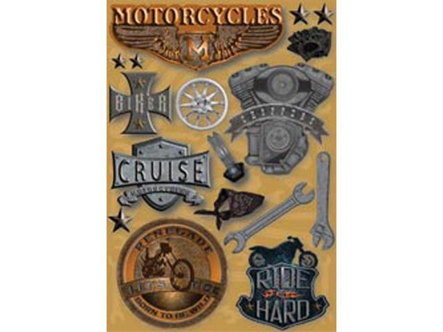 Motorcycle Cardstock Stickers 5.5