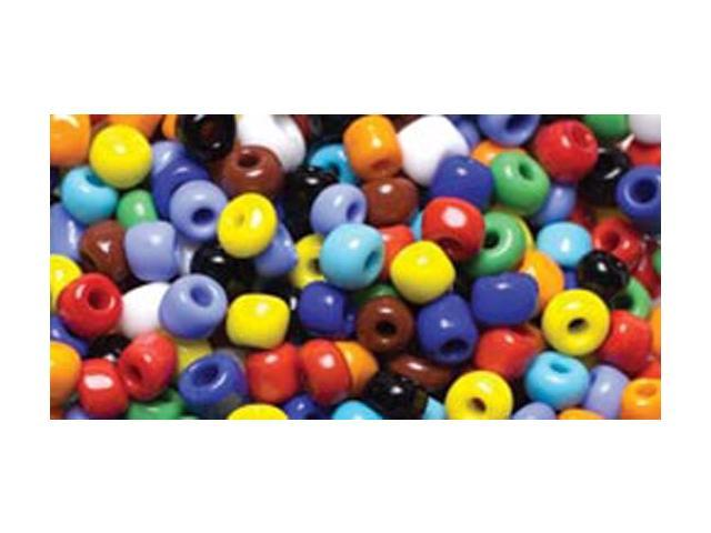 Jewelry Basics Glass Seed Beads 1.1oz-6/0 Assorted Color E-Beads