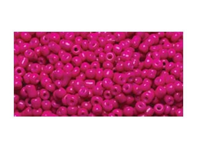 Jewelry Basics Glass Seed Beads 1.1oz-11/0 Fuchsia Seed Beads