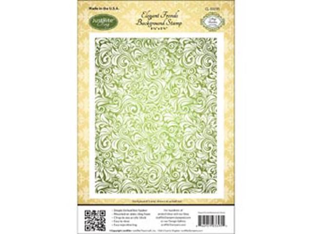 Justrite Stampers Cling Background Stamp-Elegant Fronds
