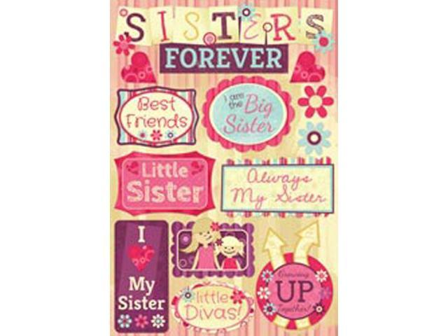 Sister Cardstock Stickers 5.5