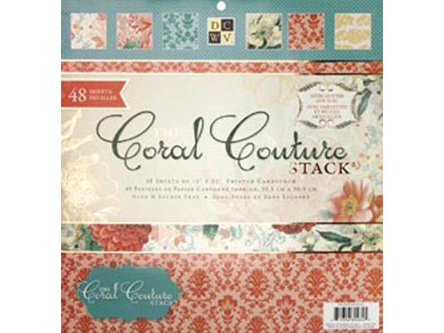 Coral Couture Paper Stack 12