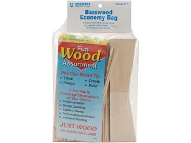Wood Assortment Economy Bag-Basswood