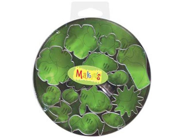 Makin's Clay Cutters 15/Pkg-Flowers & Leaves