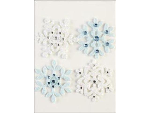 Jolee's Boutique Christmas Stickers-Fun Felt Snowflakes