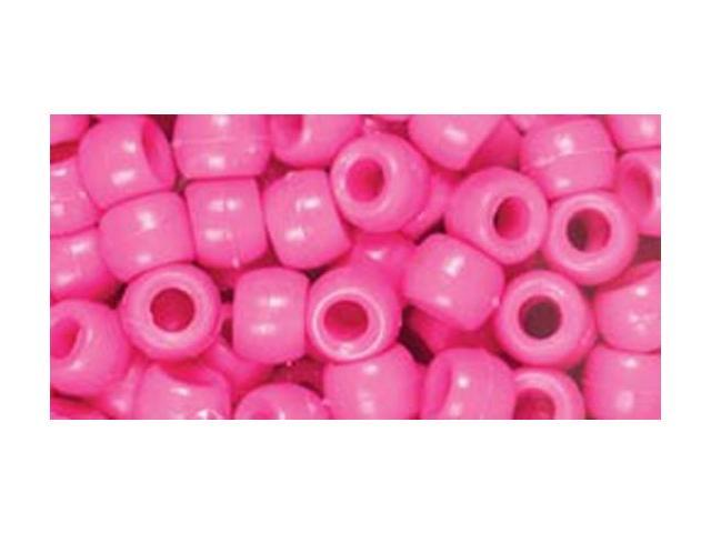 Fun Pack Acrylic Pony Beads 250/Pkg-Pink