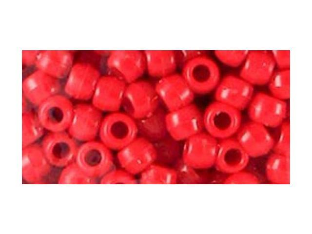 Pony Bead Big Value Pack 9mm 1000/Pkg-Opaque Red