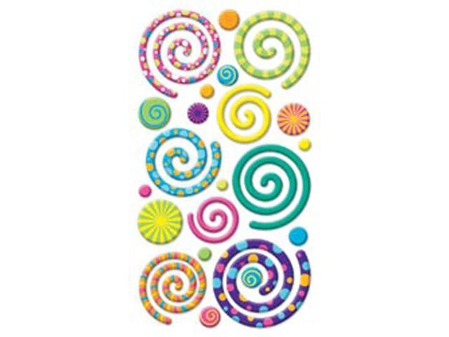 Puffy Dimensional Stickers-Swirly Gigs