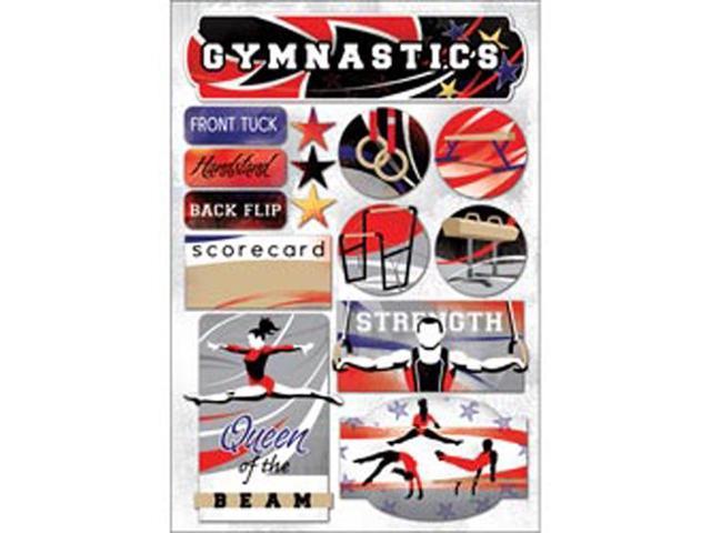 Gymnastics Cardstock Stickers 5.5