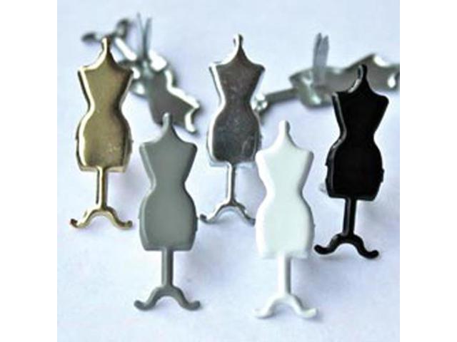 Eyelet Outlet Brads-Dress Form 12/Pkg