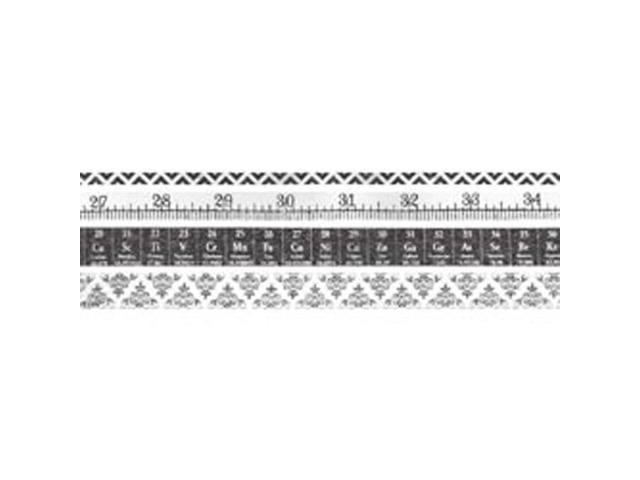Idea-Ology Tissue Tape 4 Styles/10 Yards Each-Laboratorie Black