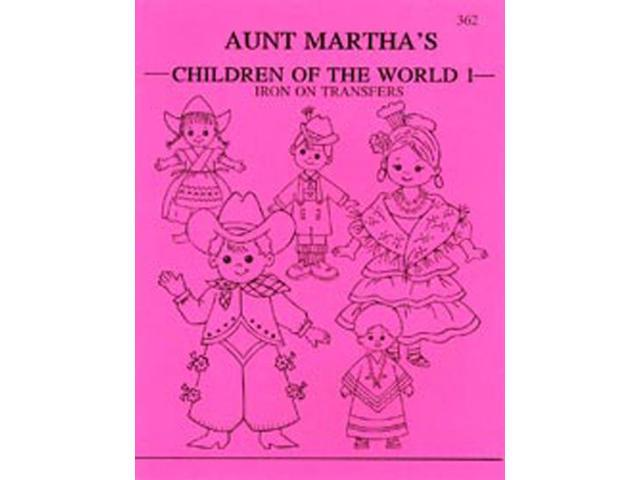 Aunt Martha's Iron-On Transfer Books-Children Of The World