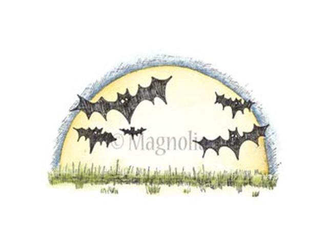 So Spooky Cling Stamp-Moon & Bats