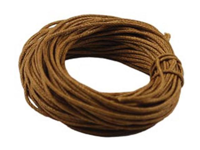 Jewelry/Craft Waxed Cording 1mmX30'-Dark Natural