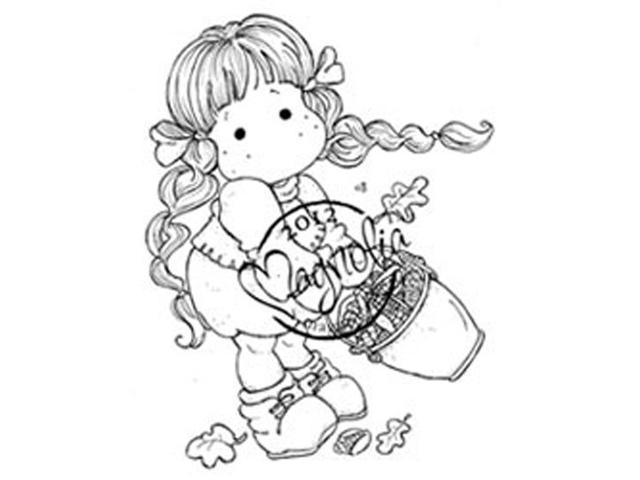 Turning Leaves Cling Stamp-Tilda With Corn