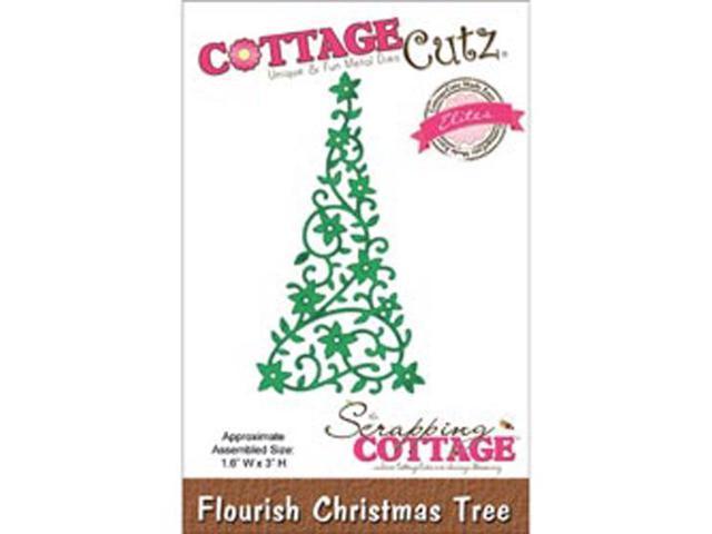 CottageCutz Elites Die-Flourish Christmas Tree