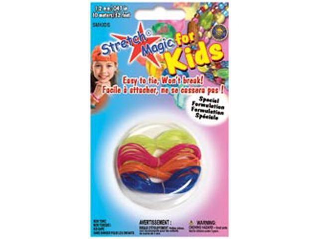 Stretch Magic For Kids 1.2mmX10m-Black, Pink, Purple & Orange