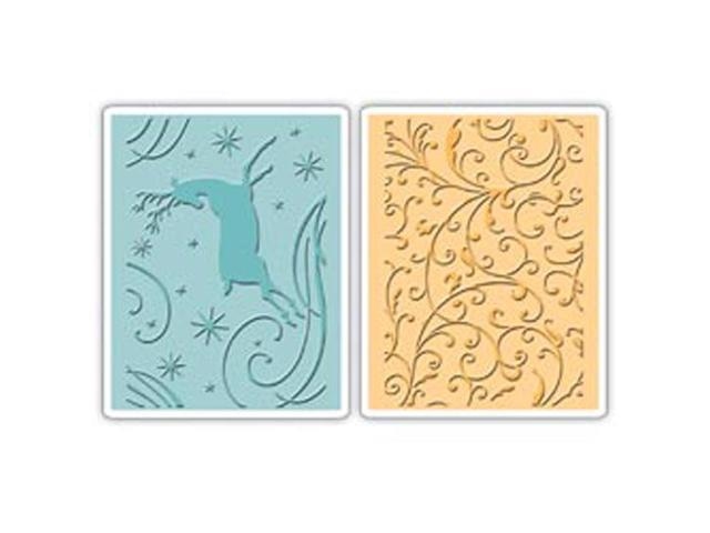 Sizzix Textured Impressions Embossing Folders 2/Pkg-Starry Night