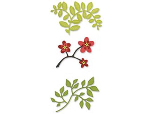 Sizzix Sizzlits Die Set 3/Pkg-Flowers, Branches & Leaves