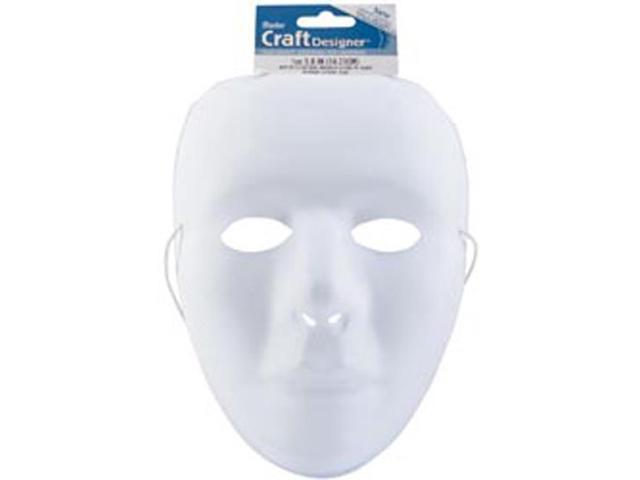 White Matte PVC Mask-9.75
