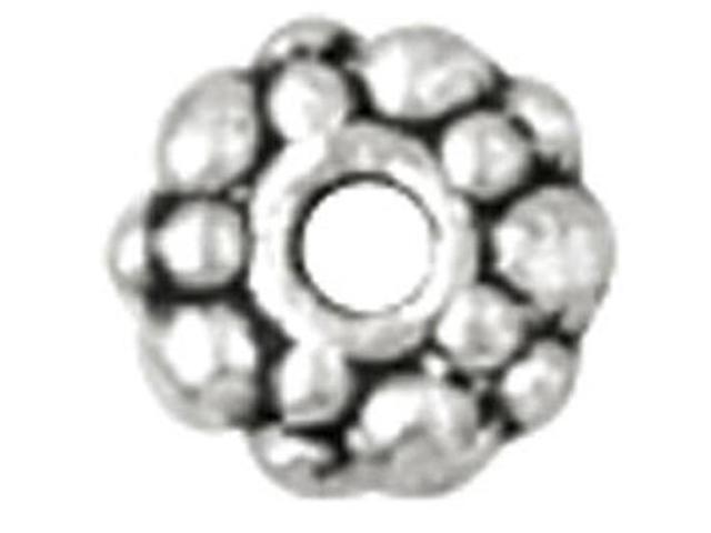 Blue Moon Value Pack Metal Spacer Beads-Silver Rondelles 24/Pkg