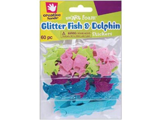 Foam Stickers 60/Pkg-Fish & Dolphins