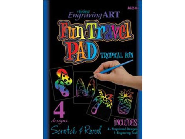 Rainbow Engraving Art Fun Travel Pads-Tropical Fun