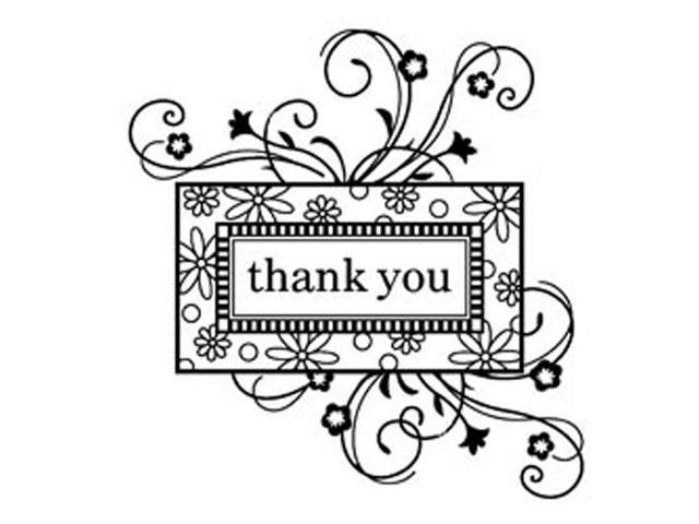 Inkadinkado Clear Mini Stamps-Thank You Frame