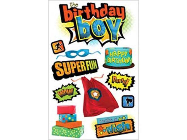 Paper House 3-D Sticker-Birthday Boy