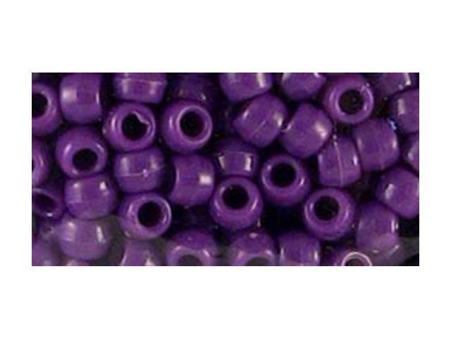 Pony Bead Big Value Pack 9mm 1000/Pkg-Opaque Purple