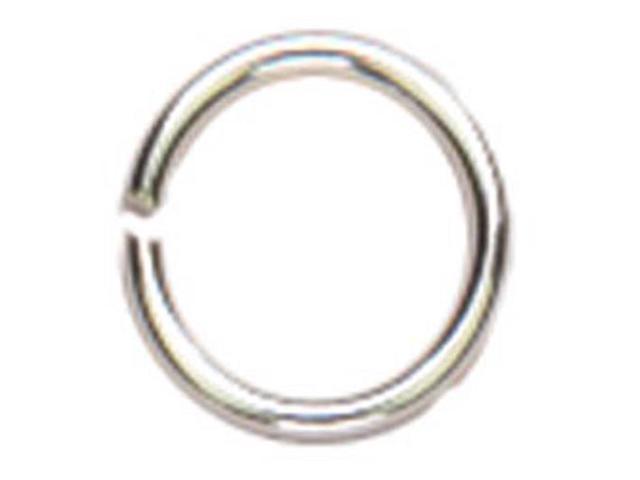 Sterling Elegance Genuine 925 Silver Beads & Findings-Open Jump Rings 6mm 16/Pkg