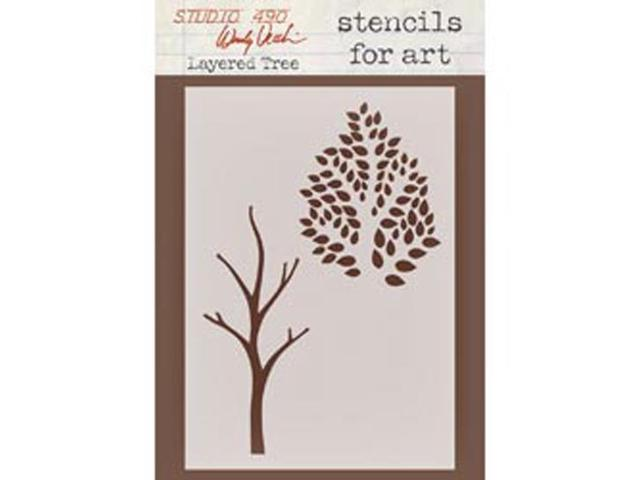 Wendy Vecchi Studio Stencil Collection-Layered Trees