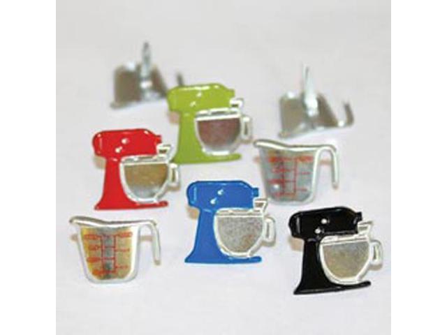 Eyelet Outlet Brads-Mixer & Cup 12/Pkg