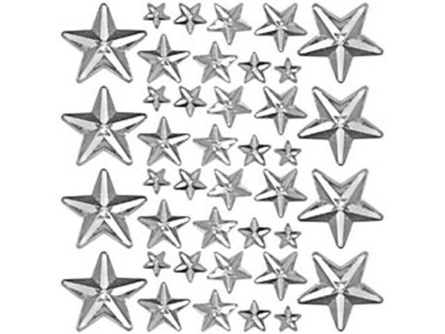 Idea-Ology Mirrored Stars 24/Pkg-Clear Assorted Sizes .25