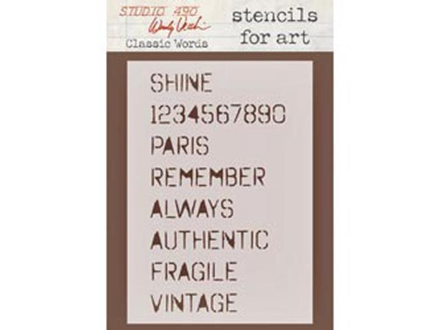 Wendy Vecchi Studio Stencil Collection-Classic Words
