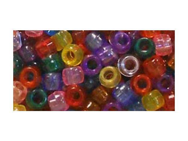 Pony Bead Big Value Pack 9mm 1000/Pkg-Transparent Multicolor