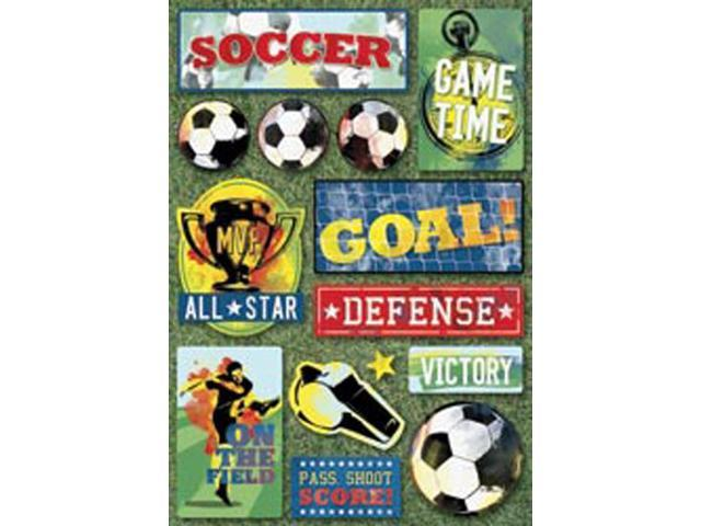 Soccer Cardstock Stickers 5.5