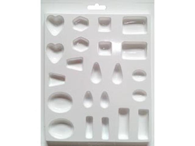 Jewelry Casting Mold-Assorted Size and Shape Jewels 22 Cavity