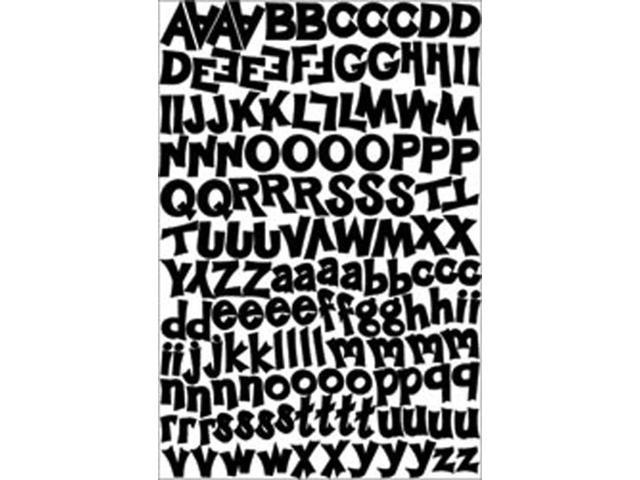 Alphabet Cardstock Stickers 5.5