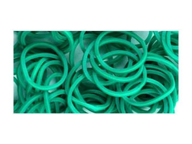 Loom Bands 500/Pkg W/25 Clasps-Dark Green