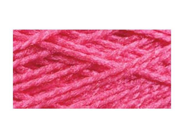 Needloft Craft Yarn 20 Yard Card-Bright Pink