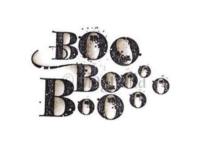 So Spooky Cling Stamp-Boo Background
