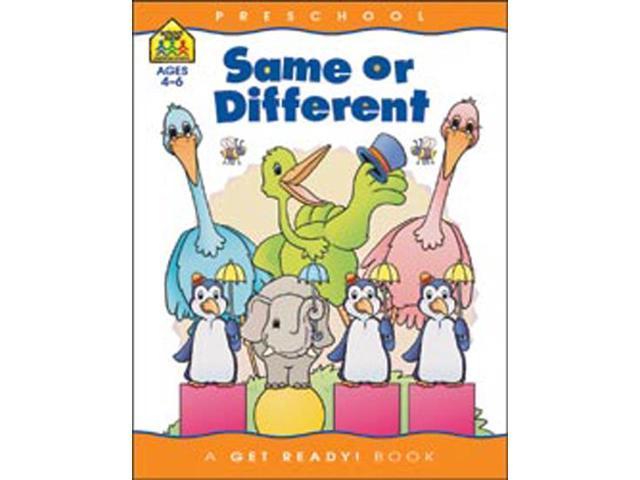 Preschool Workbooks-Same Or Different - Ages 3-5