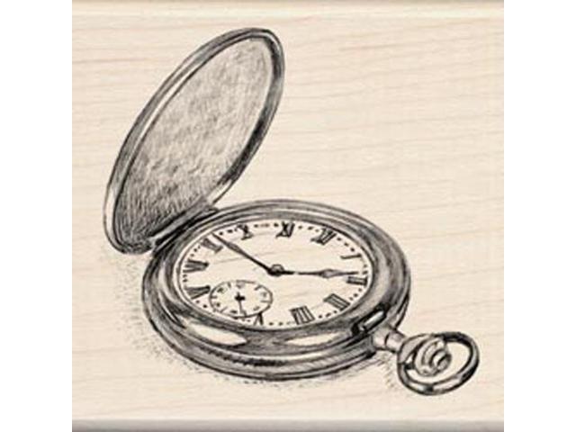 Inkadinkado Mounted Rubber Stamp-Pocket Watch 3