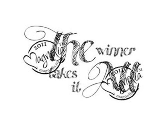 The Winner Takes It All Cling Stamp-The Winner Takes It All