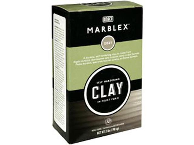 Marblex Self-Hardening Clay 2lb-Gray