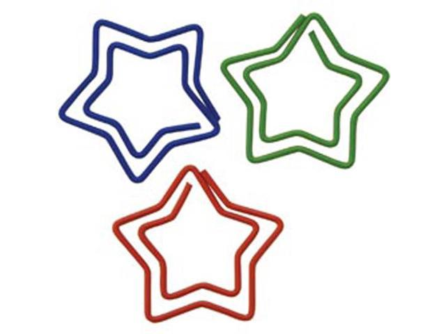 Paper Clips Carded-Star Shaped 20/Pkg
